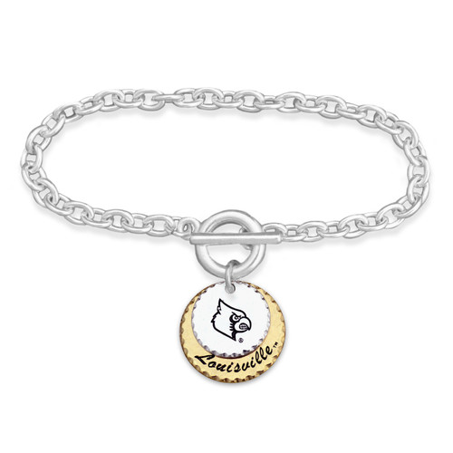Louisville Cardinals Haute Stamp Toggle Bracelet