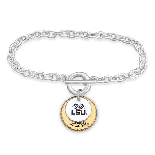 LSU Tigers Haute Stamp Toggle Bracelet