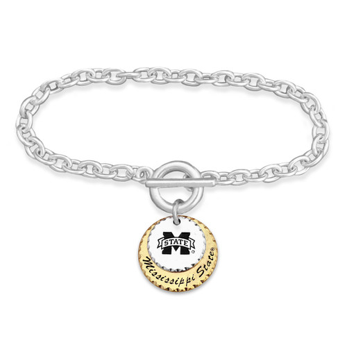 Mississippi State Bulldogs Haute Stamp Toggle Bracelet
