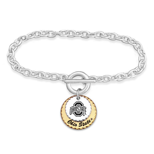 Ohio State Buckeyes Haute Stamp Toggle Bracelet