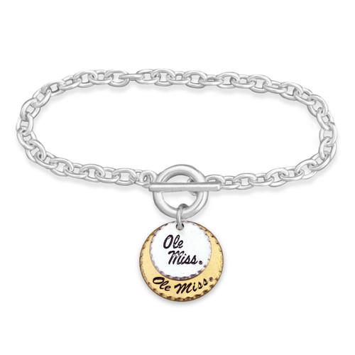 Ole Miss Rebels Haute Stamp Toggle Bracelet