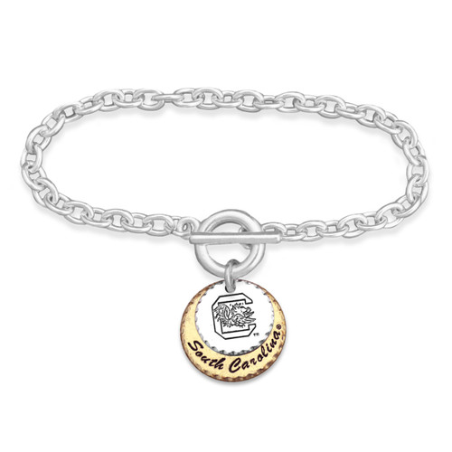 South Carolina Gamecocks Haute Stamp Toggle Bracelet