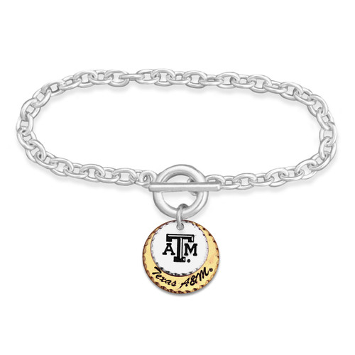 Texas A&M Aggies Haute Stamp Toggle Bracelet