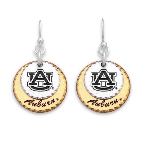 Auburn Tigers Haute Stamp Earrings