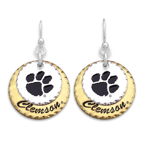Clemson Tigers Haute Stamp Earrings