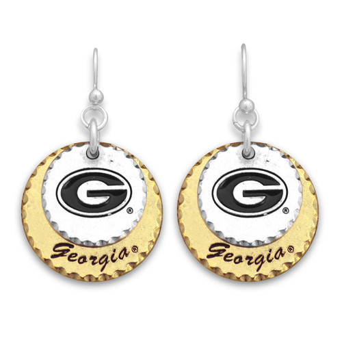 Georgia Bulldogs Haute Stamp Earrings