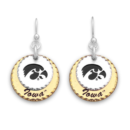 Iowa Hawkeyes Haute Stamp Earrings