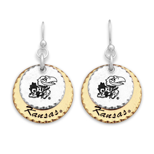 Kansas Jayhawks Haute Stamp Earrings