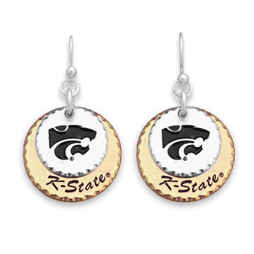 Kansas State Wildcats Haute Stamp Earrings