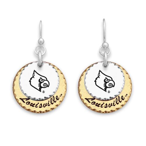 Louisville Cardinals Haute Stamp Earrings