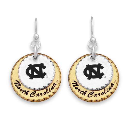 North Carolina Tar Heels Haute Stamp Earrings