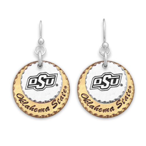 Oklahoma State Cowboys Haute Stamp Earrings