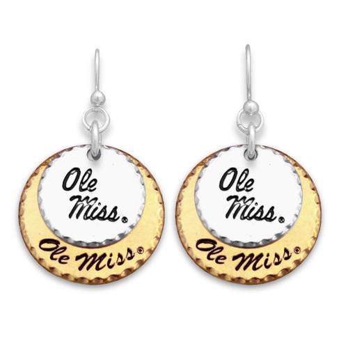 Ole Miss Rebels Haute Stamp Earrings