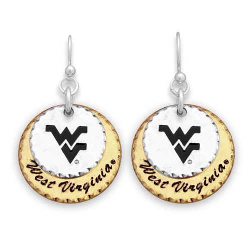 West Virginia Mountaineers Haute Stamp Earrings
