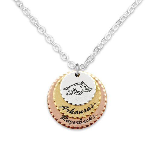 Arkansas Razorback Haute Stamp Necklace