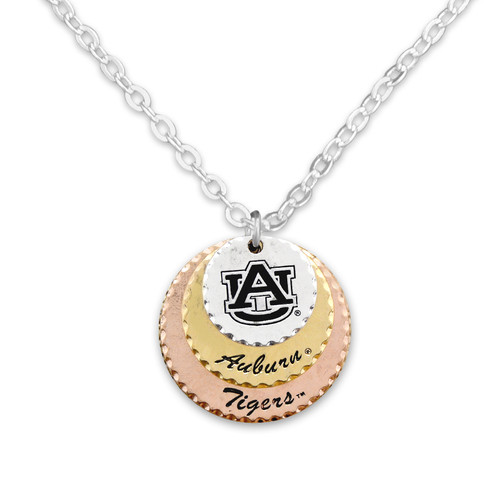 Auburn Tigers Haute Stamp Necklace