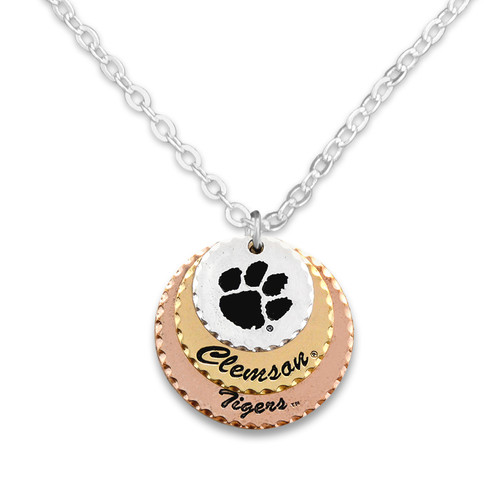 Clemson Tigers Haute Stamp Necklace