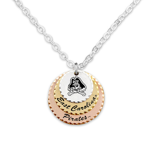 East Carolina Pirates Haute Stamp Necklace