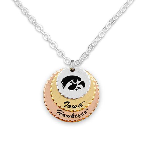 Iowa Hawkeyes Haute Stamp Necklace