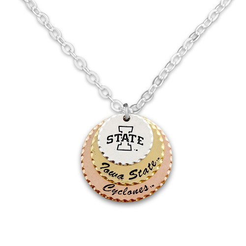 Iowa State Cyclones Haute Stamp Necklace