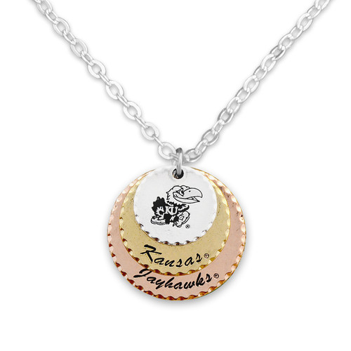 Kansas Jayhawks Haute Stamp Necklace