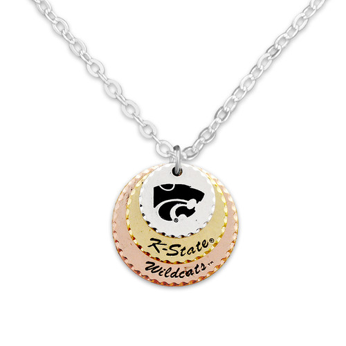 Kansas State Wildcats Haute Stamp Necklace
