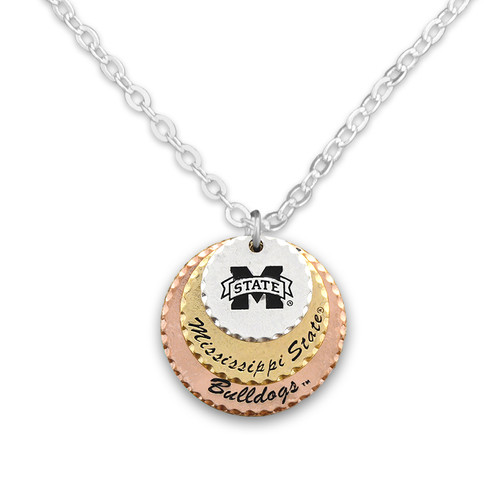 Mississippi State Bulldogs Haute Stamp Necklace