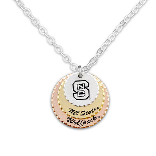 North Carolina State Wolf Pack Haute Stamp Necklace