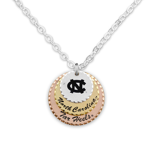 North Carolina Tar Heels Haute Stamp Necklace