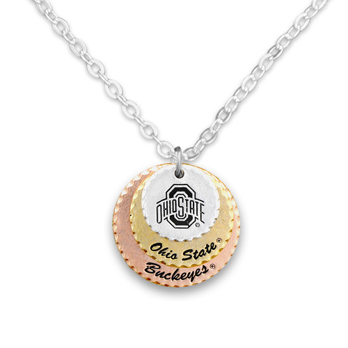 Ohio State Buckeyes Haute Stamp Necklace