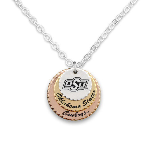 Oklahoma State Cowboys Haute Stamp Necklace