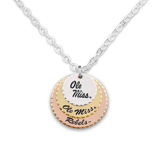 Ole Miss Rebels Haute Stamp Necklace
