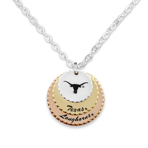 Texas Longhorns Haute Stamp Necklace