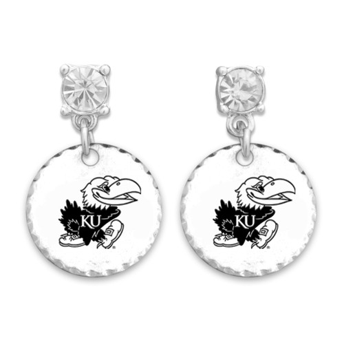 Kansas Jayhawks Head of the Class Earrings