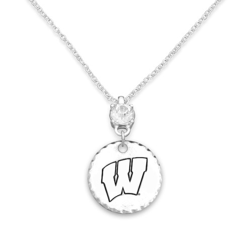 Wisconsin Badgers Head of the Class Necklace
