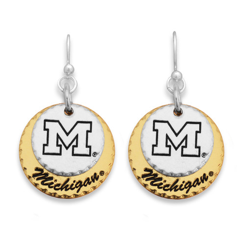 Michigan Wolverines Haute Stamp Earrings