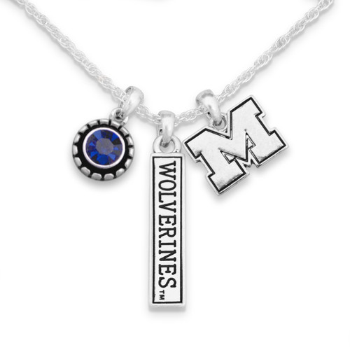 Michigan Wolverines Trifecta Necklace