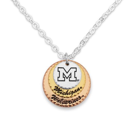 Michigan Wolverines Haute Stamp Necklace