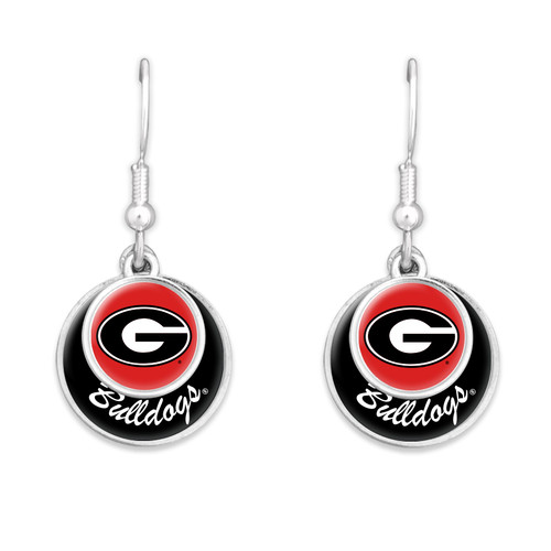 Georgia Bulldogs Stacked Disk Earrings