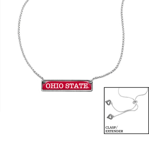 Ohio State Buckeyes Slider Bead Adjustable Necklace- Nameplate