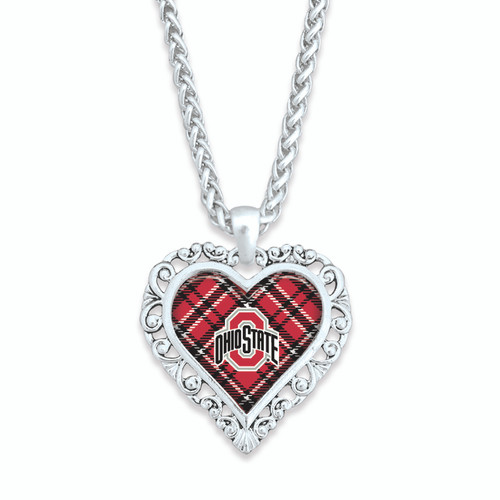 Ohio State Buckeyes Necklace- Plaid