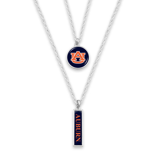 Auburn Tigers Double Layer College Necklace