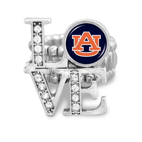 Auburn Tigers LOVE Stretchy Ring