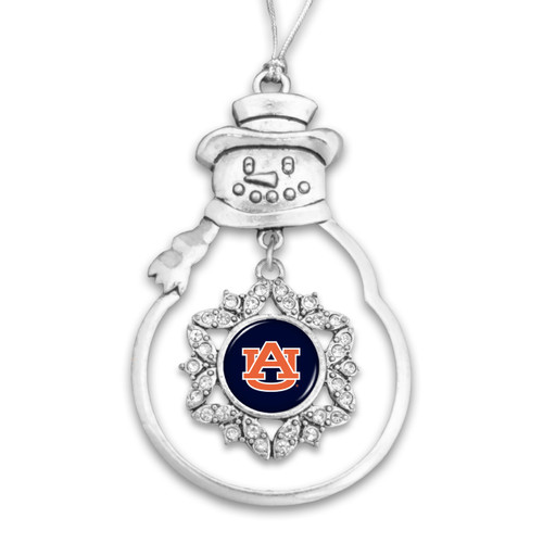 Auburn Tigers Snowman Christmas Ornament