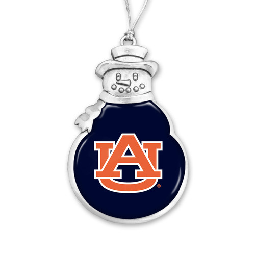 Snowman Auburn Tigers Christmas Ornament