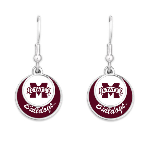 Mississippi State Bulldogs Stacked Disk Earrings