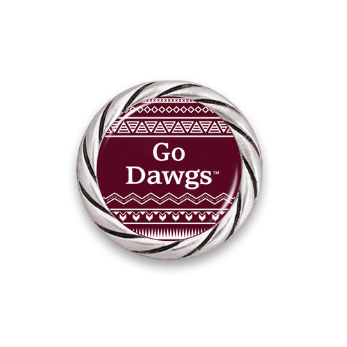 Mississippi State Bulldogs Spirit Slogan Woven Aztec Snap Button