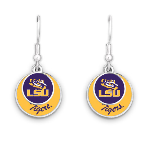 LSU Tigers Stacked Disk Earrings