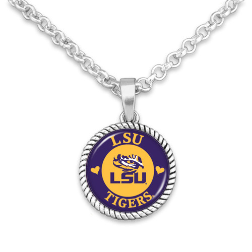 LSU Tigers Stuck On You Necklace