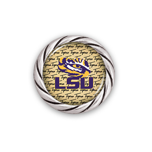 LSU Tigers Script Snap Button